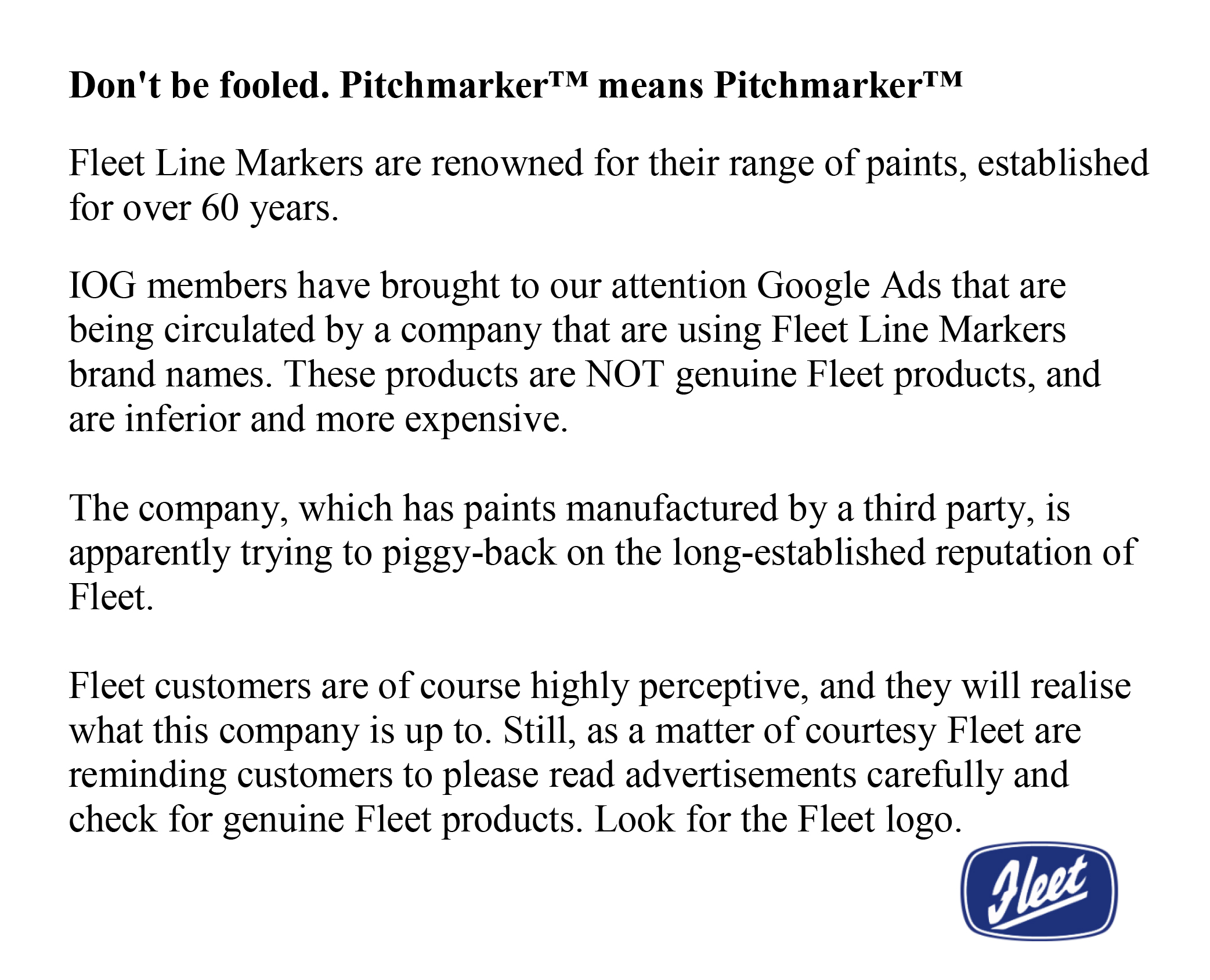 picture words regarding fleet trademarks